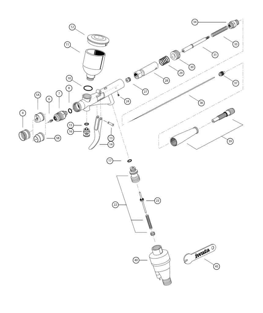 Iwata Kustom TH Spare Parts Diagram